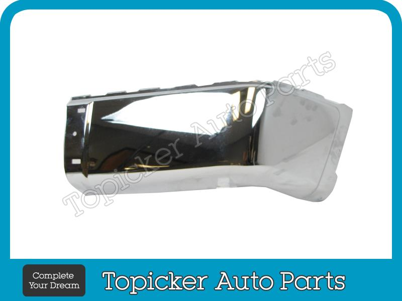 2007 2012 Chevy Silverado Rear Bumper Cap Chrome Retainer Clip 4pc w O Hole